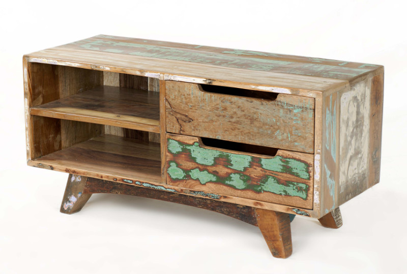 Indisches vintage tv lowboard industrial sideboard bei for Mobelhaus frankfurt