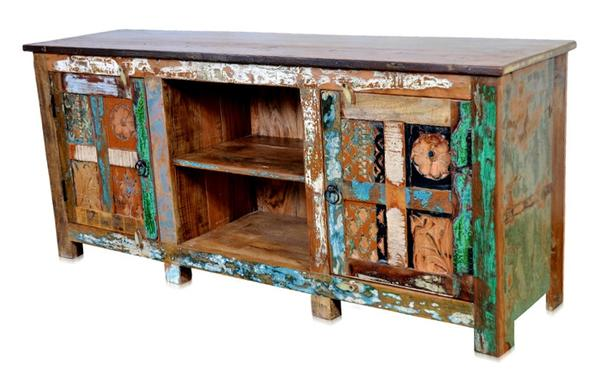 Vintage Kommode aus Sheeshamholz bunt - Sideboards ...
